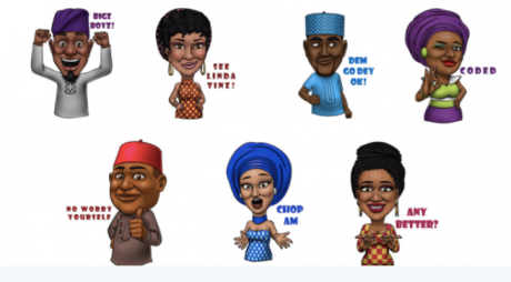Capture d'écran de l'application Afro emoji. DR