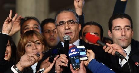 Mohsen Marzouk, l'ex-directeur de campagne du président tunisien, au coeur des révélations de Inkyfada. Photo: FETHI BELAID/AFP