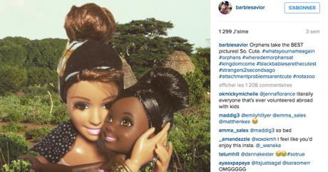 Capture d'écran du compte Instagram «White Savior Barbie».