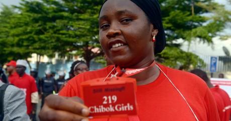 Manifestation de soutien aux 219 lycéennes de Chibok, le 14 octobre 2014. Crédit photo: PIUS UTOMI EKPEI / AFP
