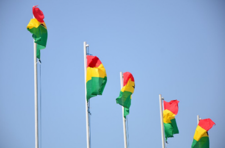 Le drapeau du Ghana. Photo AFP