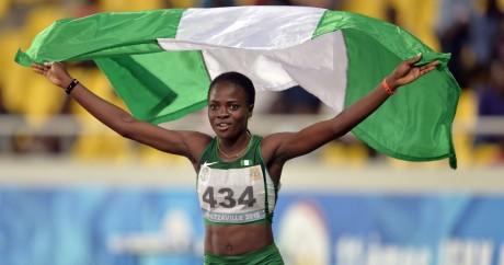 Amusan Oluwatobiloba et les autres athlètes nigérians auraient pu manquer leurs chances de médailles. Monirul Bhuiyan / AFP