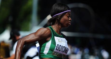 La Nigériane Edidiong Odiong, ici en 2014, a choisi de rejoindre le Bahreïn. Steve DYKES / GETTY IMAGES NORTH AMERICA / AFP