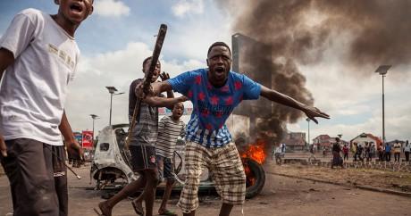Des manifestants dans les rues de Kinshasa, le 19 septembre 2016. EDUARDO SOTERAS / AFP