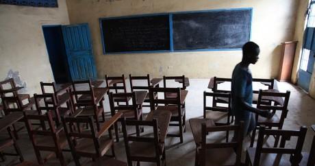 Une classe vide le 31 juillet 2015 à Monrovia. STRINGER / AFP