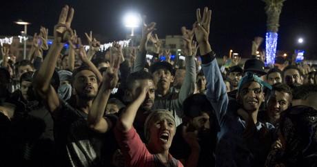 Des manifestants à Al-Hoceima le 30 octobre 2016. FADEL SENNA / AFP