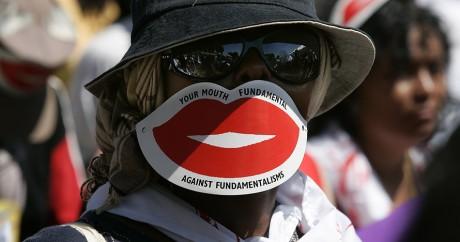 Une manifestation contre les discriminations antihomosexuels, en 2007 à Nairobi. MARCO LONGARI / AFP