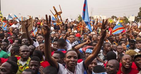 Des supporters de l'opposant Etienne Tshisekedi lors d'un meeting le 31 juillet 2016. Eduardo Soteras / AFP