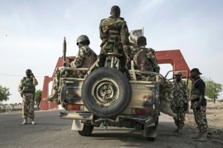 Soldats nigérians le 25 mars 2016 à Maiduguri AFP/Archives STEFAN HEUNIS