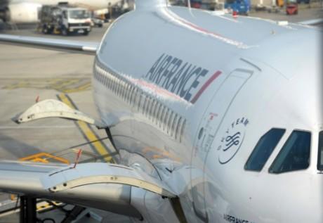 Un avion Air France à Freetown. AFP
