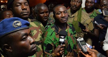 Issiaka Ouattara, porte-parole des mutins, le 7 janvier à Bouaké. Sia KAMBOU / AFP