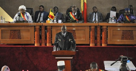 Une session à l'Assemblée nationale du Mali, le 8 juin 2015. HABIBOU KOUYATE / AFP