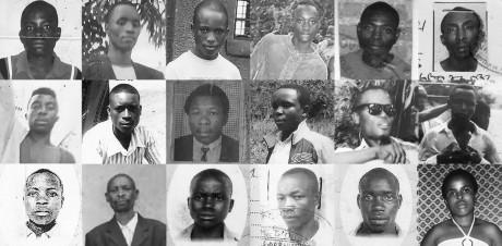 Photo de quelques victimes des exécutions extrajudiciaires. HRW