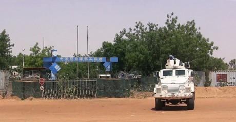 Un véhicule des Nations unies, le 1er juin 2016 à Gao. STR / AFP