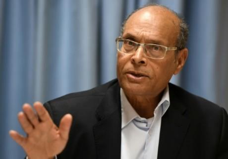 L'ancien chef de l'Etat tunisien Moncef Marzouki, le 2 mars 2017 à Genève AFP/Archives PHILIPPE DESMAZES