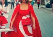 Une usine offre la couture des drapeaux en robe
