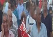 Départ de la manifestation de commémoration du 40ème jour du décès du martyr Md Brahmi