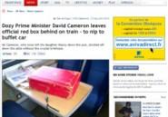 David Cameron oublie sa valise rouge au train, la presse britannique indignée