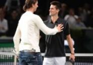 ATP Masters Paris-Bercy : Novak Djokovic vs Zlatan Ibrahimovich, et le vainqueur est … -vidéo-