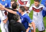 Foot/Italie-Allemagne: des insultes, des coups et de la bagarre ! -Vidéo