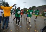 Gabon: le premier marathon entre pluie et soleil