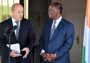A Abidjan, Le Drian rappelle le soutien de la France