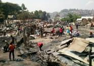 RDC: des dizaines de maisons détruites dans un incendie géant