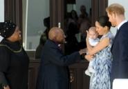 Première sortie officielle de Harry et Meghan avec leur bébé pour rencontrer Desmond Tutu